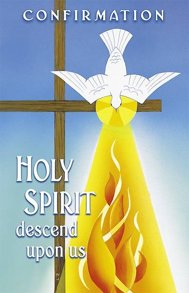Holy Spirit Descend Confirmation Regular Size Bulletin