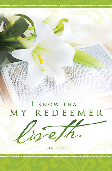 Easter My Redeemer Liveth Bulletin Regular (Package of 100)
