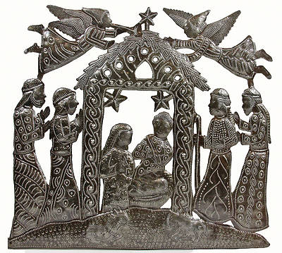 Angels Above Metal Wall Art Nativity