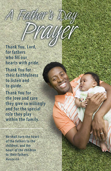 Picture of Father's Day Prayer/Malachi 4:6 Bulletin, Regular (Package of 100)