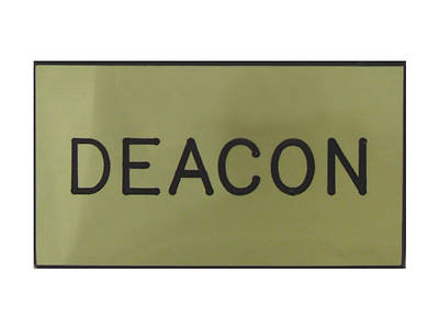 Gold and Black Deacon Clip-On Badge
