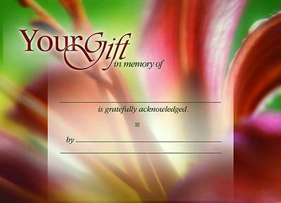 In Memory Cards - Floral (Pack of 6)