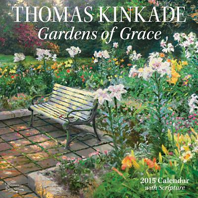 Thomas Kinkade Gardens of Grace with Scripture 2015 Wall Calendar
