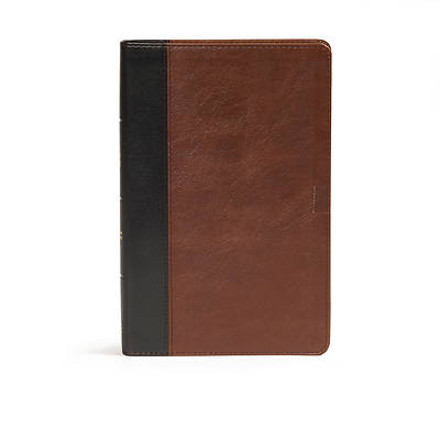 CSB Ultrathin Bible, Brown/Black Leathertouch Indexed