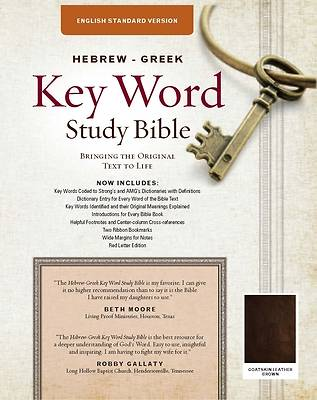 Picture of Key Word Study Bible-English Standard Verson Goatskin Leather Edition