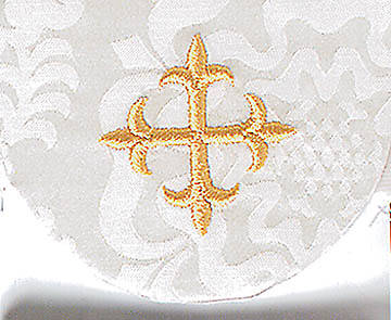 White Pocket Usher Badge with Cross - Package of 4