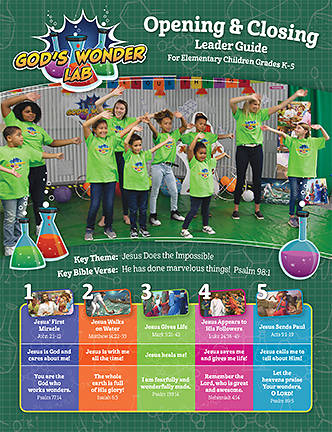 Picture of Vacation Bible School VBS 2021 God's Wonder Lab Opening & Closing Leader Guide