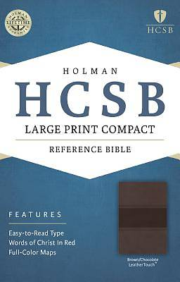 HCSB Large Print Compact Bible, Brown/Chocolate Leathertouch
