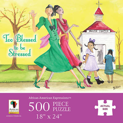 Picture of Too Blessed To Be Stressed Puzzle 500Pc