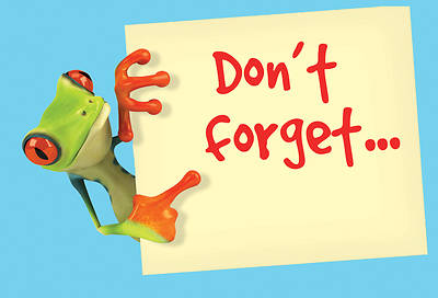 Dont Forget Frog Postcard (Package of 25)