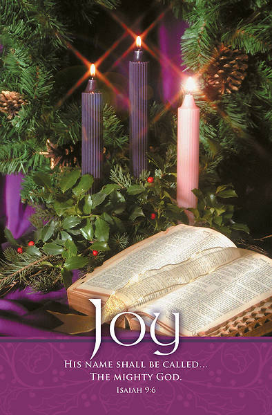 Picture of Joy Bible and Wreath Advent Regular Size Bulletin