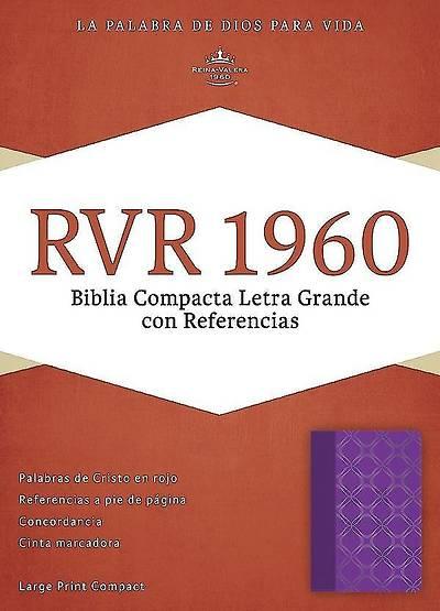 Picture of Rvr 1960 Biblia Compacta Letra Grande Con Referencias, Violeta Con Plateado Simil Piel