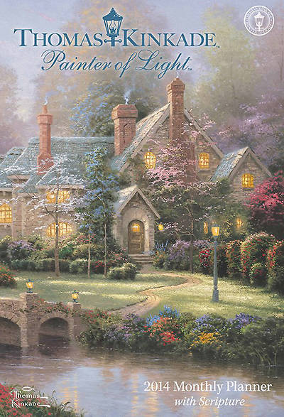 Picture of Thomas Kinkade Painter of Light with Scripture Large Monthly Planner Calendar 2014