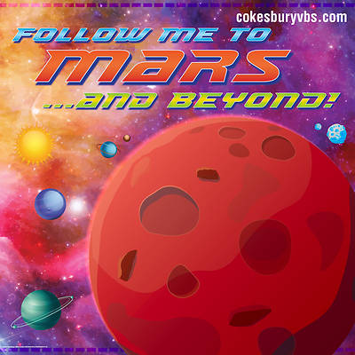 Vacation Bible School (VBS) To Mars and Beyond Photo Booth Backdrop