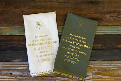 Nativity Story Tea Towels 2 Assorted