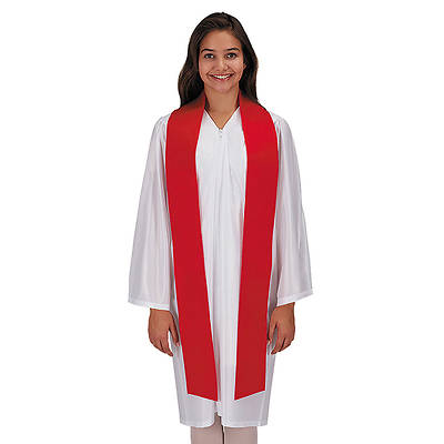 Picture of Plain Red Confirmation Stole - 12 Pack