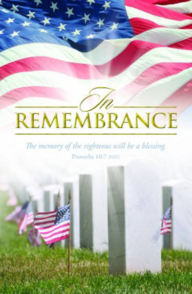 Picture of In Remembrance  Patriotic Bulletin