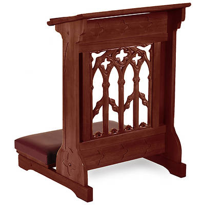 Picture of Canterbury Collection Padded Kneeler - Walnut Stain