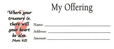 Offering Envelope My Offer
