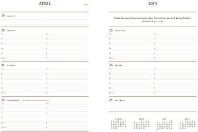 Picture of 2015 12-Month Appointment Planner - Red