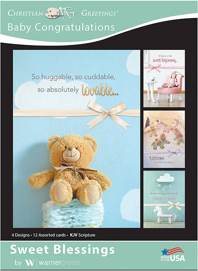 Picture of Sweet Blessings Baby Congratulations Boxed Cards