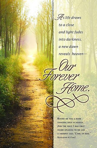 Funeral Bulletin - Our Forever Home Revelation 4:1 (Pkg 100)