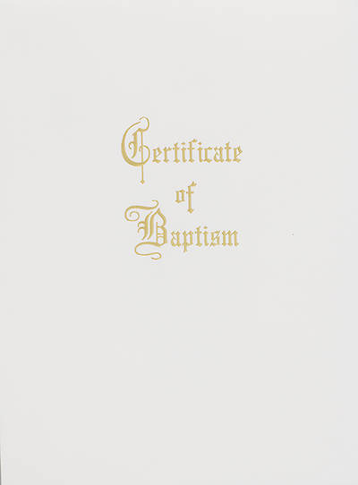 Traditional Steel-Engraved Child Baptism Certificate