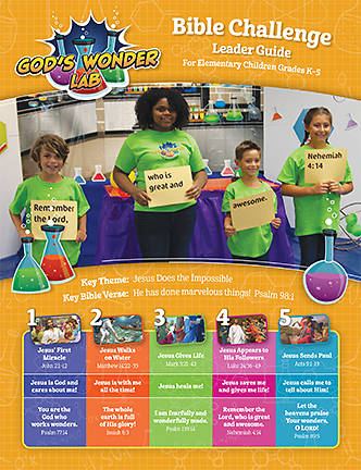Picture of Vacation Bible School VBS 2021 God's Wonder Lab Bible Challenge Leader Guide