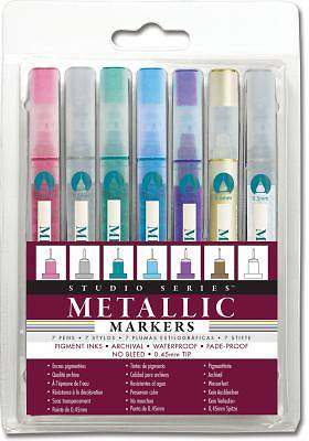 Picture of Studio Series Micro-line Metallic Markers (set of 7)