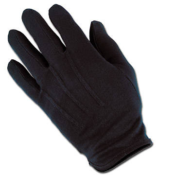 Plastic Dot Handbell Large Black Gloves