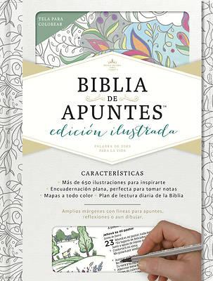 Picture of Rvr 1960 Biblia de Apuntes, Edicion Ilustrada, Blanco En Tela Para Colorear