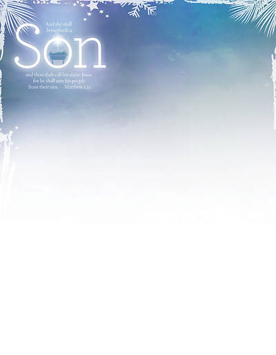 Bring Forth a Son Advent Letterhead