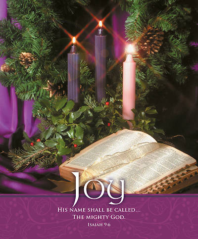 Picture of Joy Bible and Wreath Advent Legal Size Bulletin