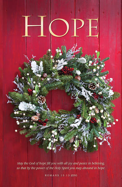 Hope Christmas Wreath Regular Size Bulletin
