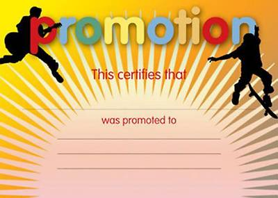 Picture of Certificate of Promotion (Package of 12)