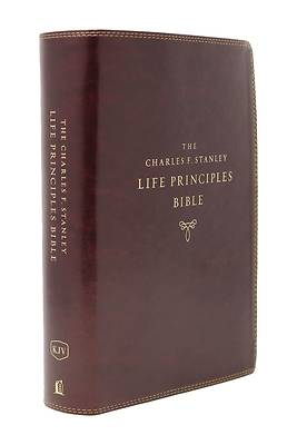 Picture of Kjv, Charles F. Stanley Life Principles Bible, 2nd Edition, Leathersoft, Burgundy, Indexed, Comfort Print