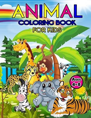 Picture of Animal Coloring Book For Kids Ages 4-8