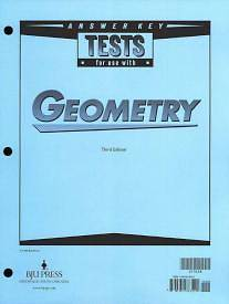 Geometry Tests Answer Key Grd 10 3rd Edition