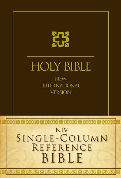 New International Version Single-Column Reference Bible