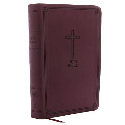 Picture of KJV, Reference Bible, Personal Size Giant Print, Imitation Leather, Burgundy, Red Letter Edition