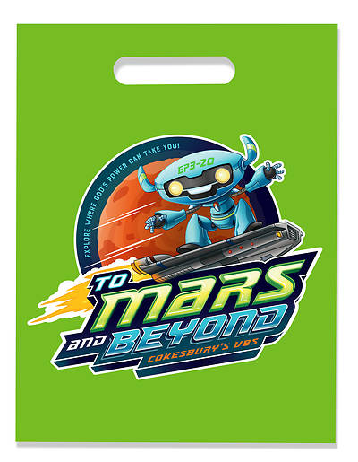 Picture of Vacation Bible School (VBS) 2019 To Mars and Beyond VBS Logo Bags (Pkg of 24)