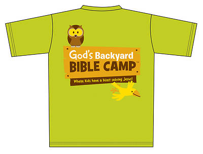 Standard Vacation Bible School 2013 God's Backyard Bible Camp T-Shirt Bright Green - Adult Large - T-Shirt
