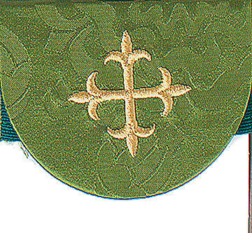 Green Pocket Usher Badge with Cross - Package of 4