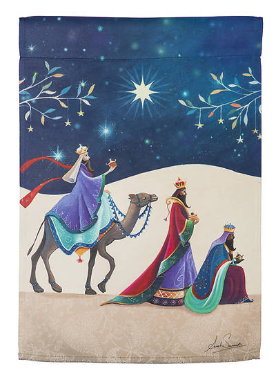 Picture of Three Kings Garden Suede Flag