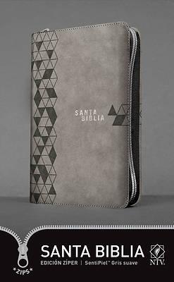 Picture of Santa Biblia Ntv, Edición Zíper, Gris Suave (Sentipiel)