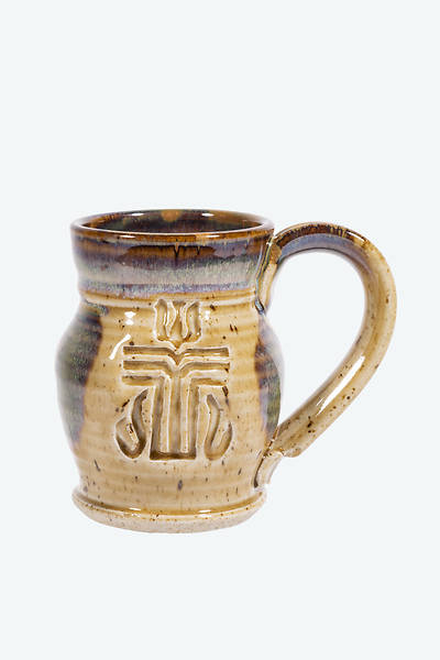 Presbyterian Church(USA) Handmade Ceramic Mug Tan