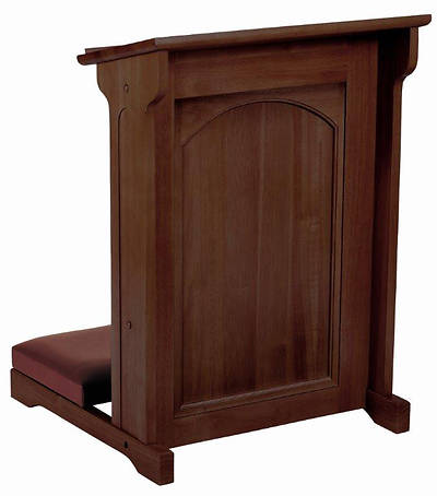Abbey Collection Padded Kneeler - Walnut Stain