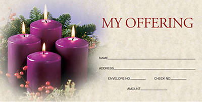 Advent Purple Offering Envelope 2009 (Package of 50)