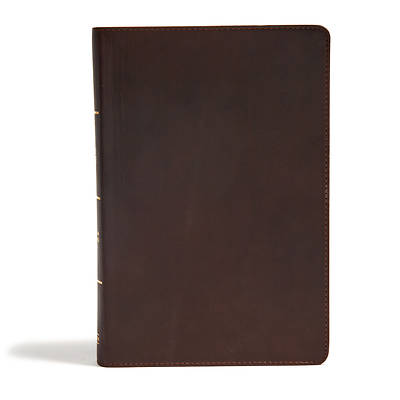Picture of CSB Super Giant Print Reference Bible, Black Genuine Leather