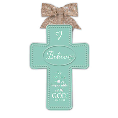 Believe Simple Cross Ornament